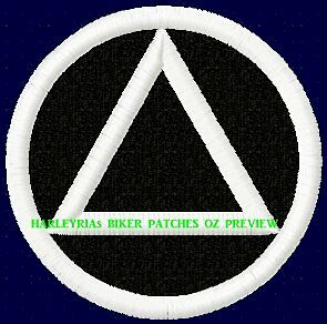 Embroidered Patch Aa  Sobriety Logo White
