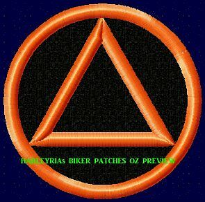 Embroidered Patch Aa  Sobriety Logo Orange