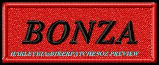 CUSTOM/MADE TO ORDER .... 1 or 2 WORD BIKER PATCH with COLOURED BACKGROUND