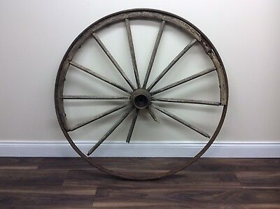 Original Antique Wagon 4ft Wooden Cart Wheel - DELIVERY AVAILABLE