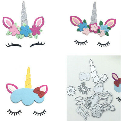 15pcs Unicorn Metal Cutting Dies Stenciling Scrapbook Embossing Paper Card Craft