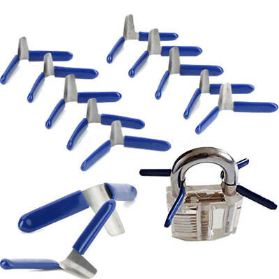 10PCS  Padlock Shim Set Lock Opener Unlock Accessories Tool Kit Without Lock GS