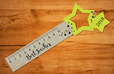 Teacher Gift Wooden Ruler Bookmark End Of Term Thank You Present