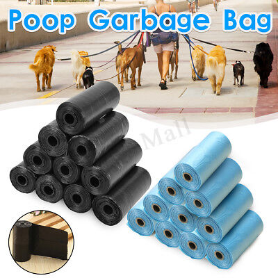 200/400x Dog Poo Bag Pet Cat Waste Poop Clean Pick Up Biodegradable Garbage Bags