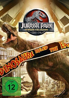 4 DVDs * JURASSIC PARK COLLECTION BOX 1 + 2 + 3 + 4 (WORLD) # NEU OVP +