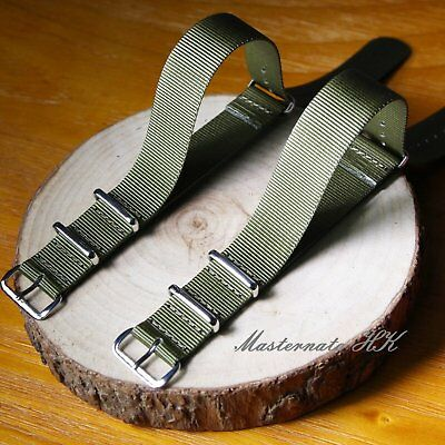Zulu G10 Olive Green Divers MOD Military Nylon Watch Nato Strap 18-24mm