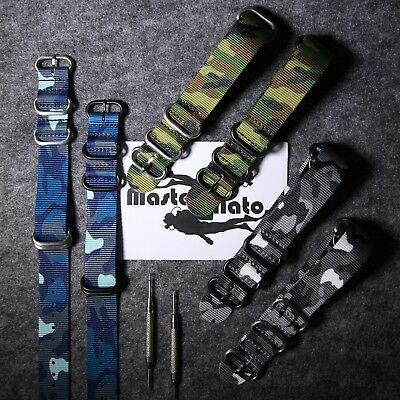 Military ZULU Nylon  Watch Strap G10 High Quality ( PVD 5-Ring Buckles )