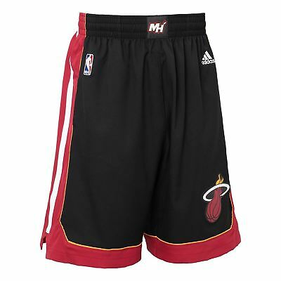 Adidas Miami Heat International NBA Swingman Shorts Schwarz Basketball HERREN