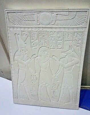 RARE ANCIENT EGYPTIAN ANTIQUE Ramses I Between Horus and Anubis Stela