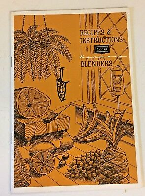 Vintage 1978 Recipes & Instructions SEARS Kenmore Blenders Booklet Advertise USA