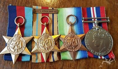 WW2 British merchant Navy medal group North Africa B G FORD - AUS name engraved