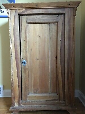 "Cute Light Wood Antique Armoire from Germany w Storage Space 50"""" tall X 30""wide"