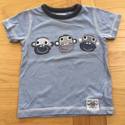 Next Baby Boys Monkey T-shirt Size 12-18 Months *Great Condition*