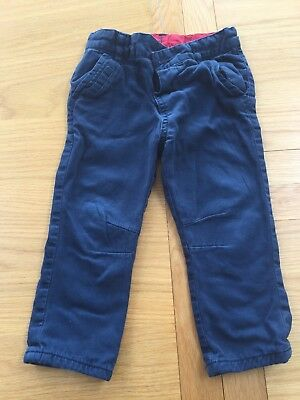 Mothercare Baby Boys Navy Trousers Size 12-18 Months