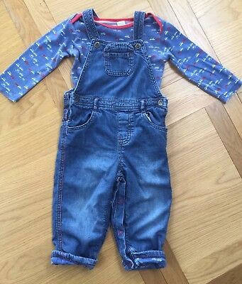 Boots Mini Club Baby Boys Dungaree Outfit *Excellent Condition*