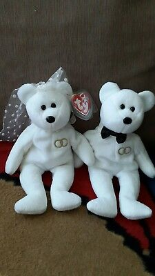 TY Beanie Bears - Mr and Mrs Bride and Groom