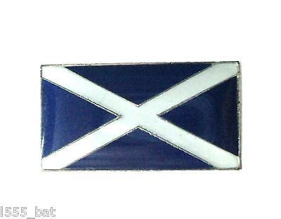 Scotland National Flag Scottish Saltire St Andrews Cross Metal Enamel Badge 19mm