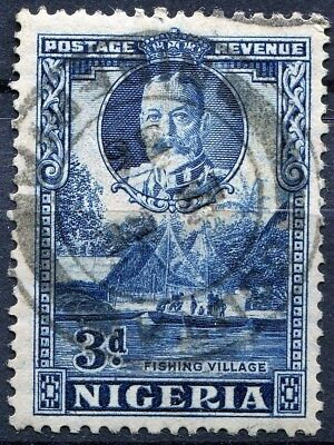 Nigeria 1936 issue, SG 38a, 3d Blue, Perf 12.5 x 13.5, used, CV £24