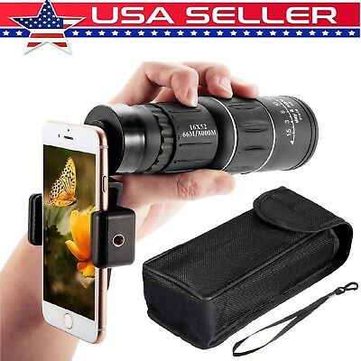 16X52 Dual Focus Optical Day/Night Vision HD Monocular Telescope