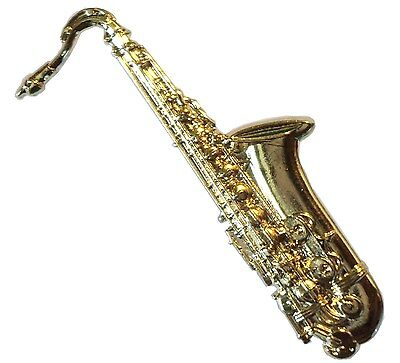 Tenor Saxophone Lapel Pin Badge Brooch Music Present Sax Saxaphone GIFT BOXED