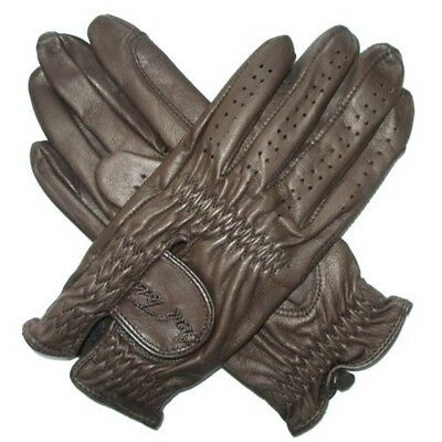 Mark Todd Show Leather Riding Glove - Dark Brown, Large - Gloves Riding Adult