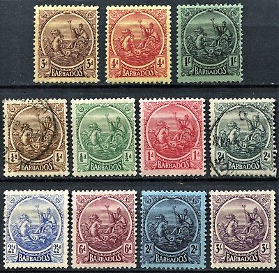 Barbados 1921 issue, between SG 213 & 228, Mint Hinged & Used, CV £55