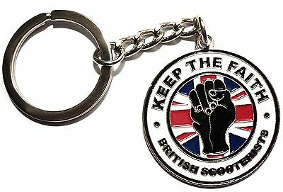 English scooterist/'s gift set Keyring and Pin badge Mods St George design