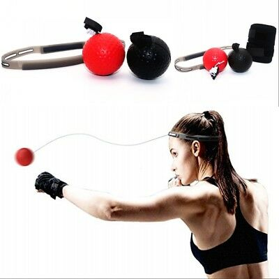 2Pcs Boxing Punch Exercise Fight Ball With Head Band Reflex Speed Training