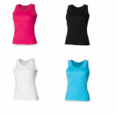 Ladies Tank Top Holiday Sleeveless Vest T-Shirt Cotton Top SK016
