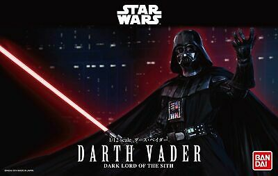 Bandai Star Wars DARTH VADER 1/12 Scale Plastic Model Kit Figure NIB - USA