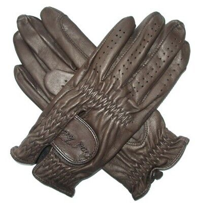 Mark Todd Show Leather Riding Glove - Dark Brown, Medium - Gloves Riding Adult