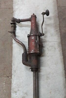 Vintage Hand Crank Oil/Gas Barrel Pump