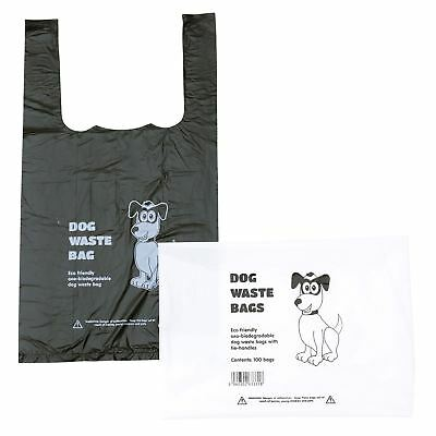 400 x Biodegradable Dog Poo Bags (DogPoop/Bag-Waste Bags) Black Tie Handle