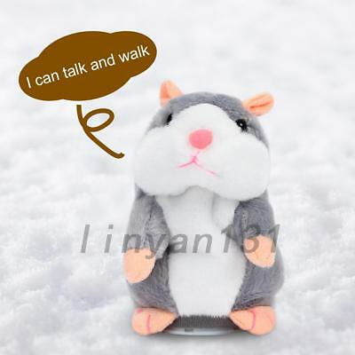 Talking Hamster Repeats What You Say Electronic Plush Toy Kid Birthday Gifts AU