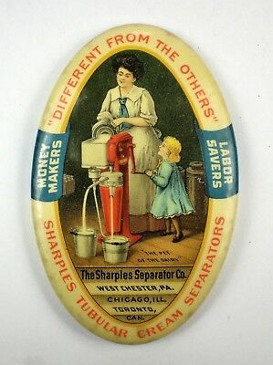 Vintage Sharple's Cream Separator Advertising Pocket Mirror ~ no reserve