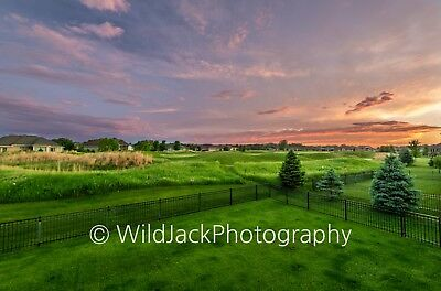 Digital Picture Image Photo Wallpaper JPG sunset over golf course