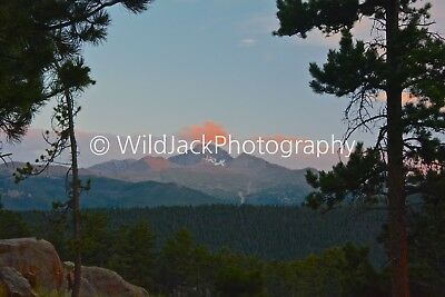 Digital Picture Image Photo Wallpaper JPG sunset over longs peak in colorado
