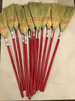 Lot of 14 Boardwalk Corn Fiber Lobby/Toy Broom (A2)