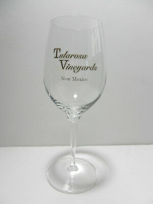 Tularosa Vineyards Stemmed Crystal Wine Glass New Mexico Winery
