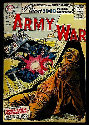 DC Comics Our ARMY At WAR #52 Wall For A Fighting Man FN 6.0