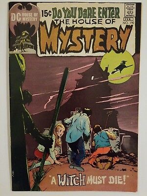 The House Of Mystery #190, higher grade, bronze age horror - Neal Adams cover!
