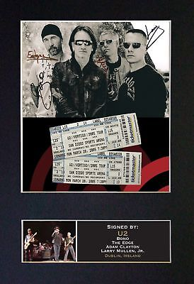 U2 - Signed / Autographed Photograph + FREE WORLDWIDE SHIPPING