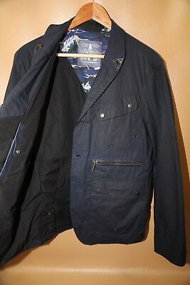 #92 Barbour White Mountaineering Wax Lapel Jacket Size L