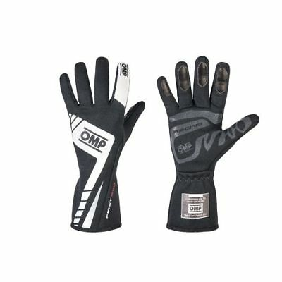 OMP Racing IB757ENL First Evo 2016 Driving Gloves, Single Layer, Black - Large