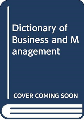 Dictionary of Business and Management, ROSENBERG, JM, Good Condition Book, ISBN
