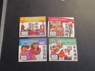 NO--1---1989-CHRISTMAS  ISLAND -chinese  new  year  -4 STAMPS --MINT --MNH----A1