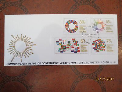 N0  4--1971    Singapore   Comm;  Heads  Of  Govement   --Fdc --Good Order