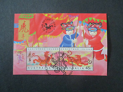 No-5--1998  YEAR  OF THE  TIGER    - MINI  SHEET  USED