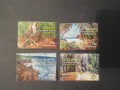 No-11----NATIONAL  PARKS   CHRISTMAS   ISLAND   ISSUED --4  STAMPS  --GREAT  LOT