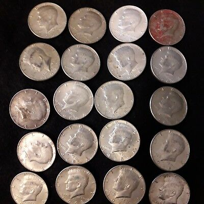 ROLL of 1968-D SILVER Kennedy Half Dollars 20 Coins